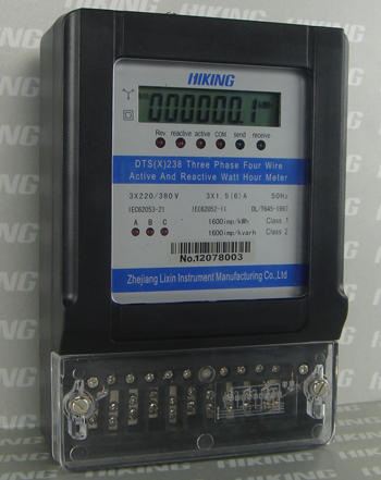 DSS(X)238, DTS(X)238 Three Phase Composite Active and Reactive KWH Meter (Three Phase Meter, Three Phase Watt-hour Meter, Three Phase Energy Meter)